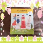 ロクシタンのハンドクリーム3種セット☆(シア・ローズ・チェリーブロッサム)