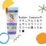 Badger Companyナチュラルミネラルサンスクリーンクリーム使ってみた★【レビュー】