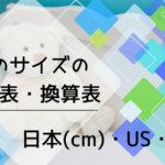 靴のサイズの対応表・換算表/日本(cm)・US・EU